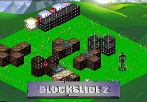 Blockslide 2, which Tyler Glaiel deems weaker than its simpler, more successful predecessor.