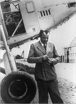 Antoine de Saint Exup�ry, French writer and aviator.